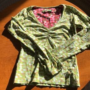 Oilily cotton jersey vee neck top
